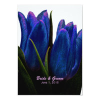 Blue Tulips Wedding Invitations