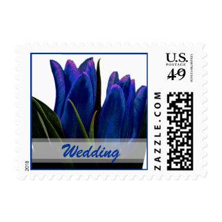 Blue Tulips Wedding Postage