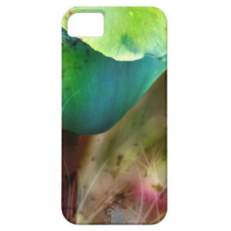 BLUE TULIPS with Brush efecto Funda Para iPhone 5 Barely There