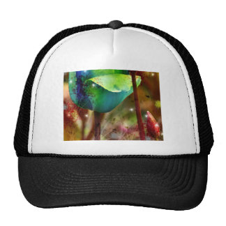 BLUE TULIPS with Brush efecto Gorras