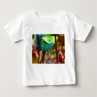 BLUE TULIPS with Brush effect Shirt