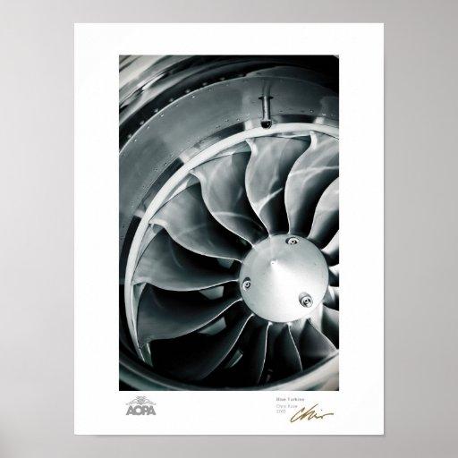 Blue Turbine Poster