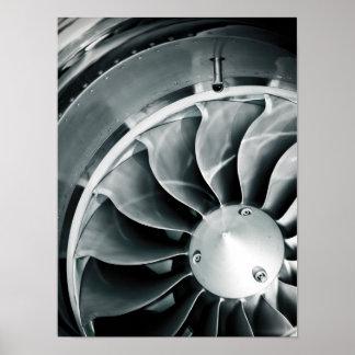 Blue Turbine Print