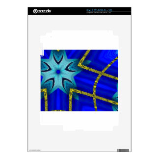 Blue turbo iPad 2 skin