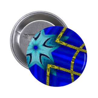 Blue turbo pinback button