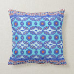 Blue Turkish Tile Ottoman Iznik Design Pillow