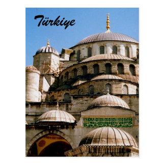 blue türkiye postcard