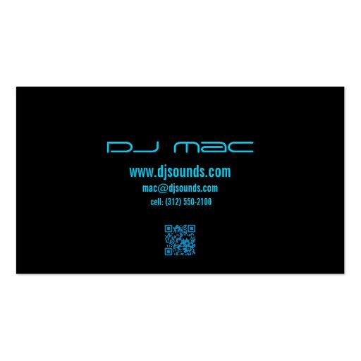 blue turntable dj business card (back side)