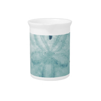 Blue Turq Sand Dollar Drink Pitcher