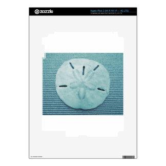 Blue Turq Sand Dollar iPad 3 Decals