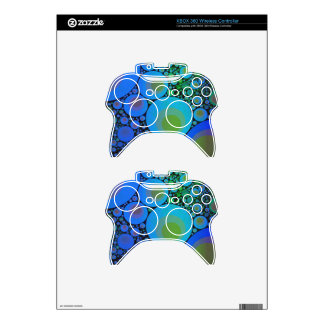 Blue Turquoise Abstract Pattern Xbox 360 Controller Skins