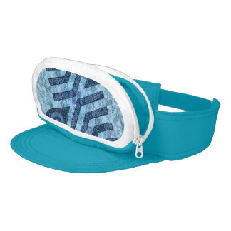 Blue Turquoise Abstract Visor