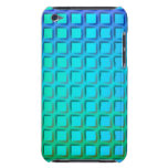Blue Turquoise and Green Squares Pattern Case-Mate iPod Touch Case