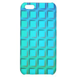 Blue Turquoise and Green Squares Pern iPhone 5C Cover
