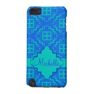 Blue & Turquoise Arabesque Moroccan Graphic iPod Touch 5G Cover