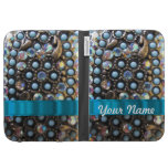 Blue turquoise beaded cases for the kindle
