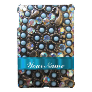 Blue turquoise beaded cover for the iPad mini