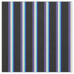 [ Thumbnail: Blue, Turquoise, Bisque, Dark Slate Blue & Black Fabric ]