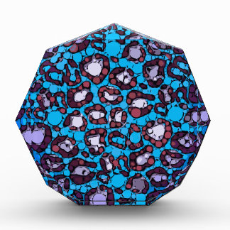 Blue Turquoise Cheetah Abstract Pattern Award
