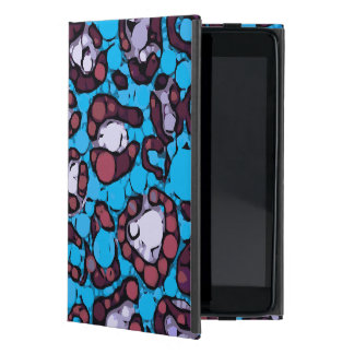 Blue Turquoise Cheetah Abstract Pattern Case For iPad Mini