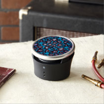 Blue Turquoise Cheetah Abstract Pattern Speaker