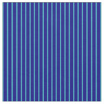 [ Thumbnail: Blue & Turquoise Colored Pattern of Stripes Fabric ]