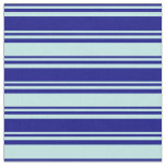 [ Thumbnail: Blue & Turquoise Colored Stripes/Lines Pattern Fabric ]