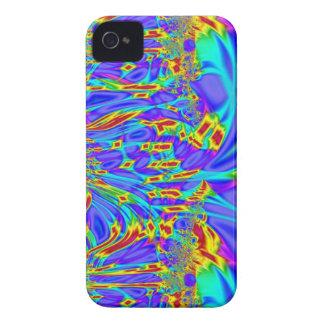 blue turquoise fractal garden iPhone 4 Case-Mate case