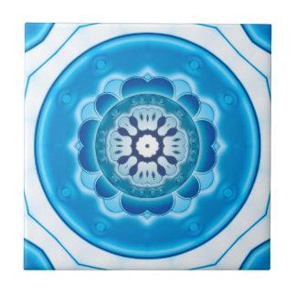 Blue Turquoise Geometric Bathroom Tile