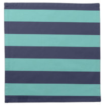 Blue Turquoise Hipster Rugby Stripes Napkin