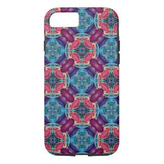 Blue Turquoise Keyhole Kaleidoscope Geometric Gem iPhone 7 Case