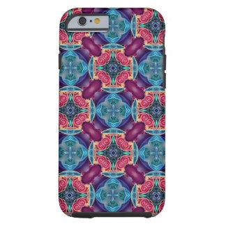 Blue Turquoise Keyhole Kaleidoscope Geometric Gem Tough iPhone 6 Case