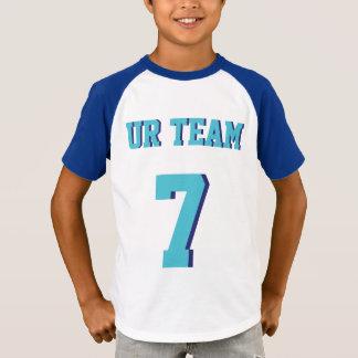 Blue & Turquoise Kids | Sports Jersey Design T-Shirt