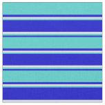 [ Thumbnail: Blue, Turquoise & Lavender Pattern Fabric ]