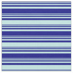 [ Thumbnail: Blue & Turquoise Lined/Striped Pattern Fabric ]