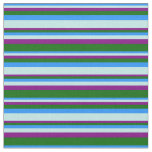 [ Thumbnail: Blue, Turquoise, Purple, and Dark Green Colored Fabric ]