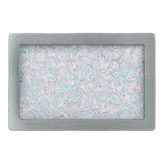 Blue Turquoise Purple White Marble Effect Pattern Belt Buckle