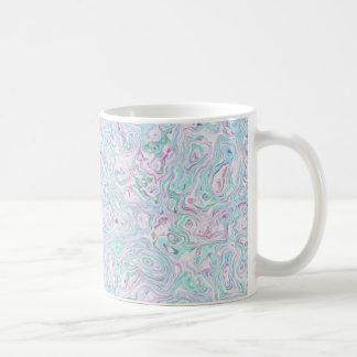 Blue Turquoise Purple White Marble Effect Pattern Coffee Mug