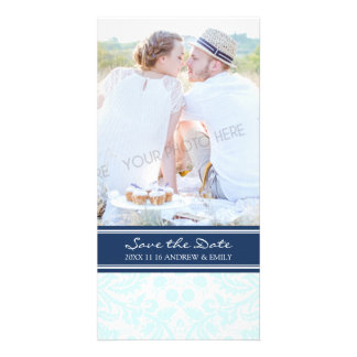 Blue Turquoise Save the Date Wedding Photo Cards