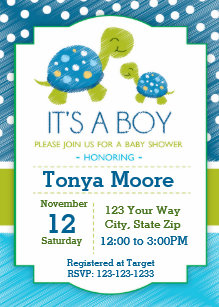 Turtle baby shower invitations zazzle blue turtle baby shower invitation filmwisefo