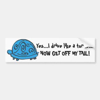 Blue Turtle Bumper Sticker