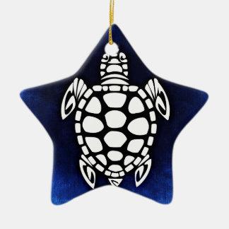 Blue Turtle Ceramic Ornament