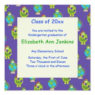 Blue Turtle Graduation Announcement