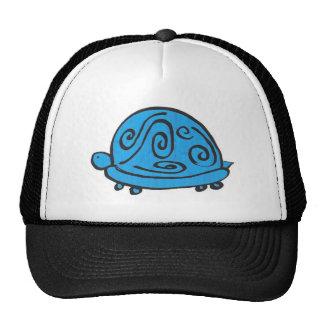 Blue Turtle Trucker Hat
