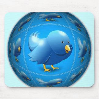 Blue Tweeter Mouse Pad