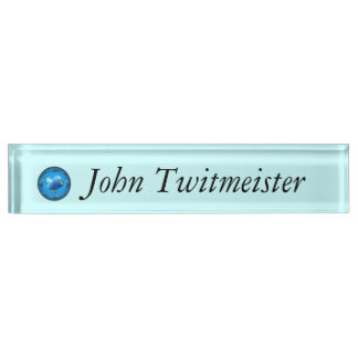 Blue Tweeter Nameplate