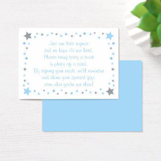Blue Twinkle Star Book Request Cards