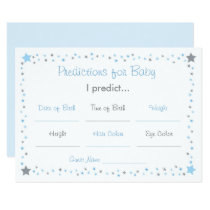 Blue Twinkle Star Prediction For Baby Game Card