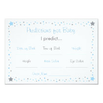 Blue Twinkle Star Predictions For Baby Cards