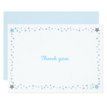 Blue Twinkle Star Thank You Card